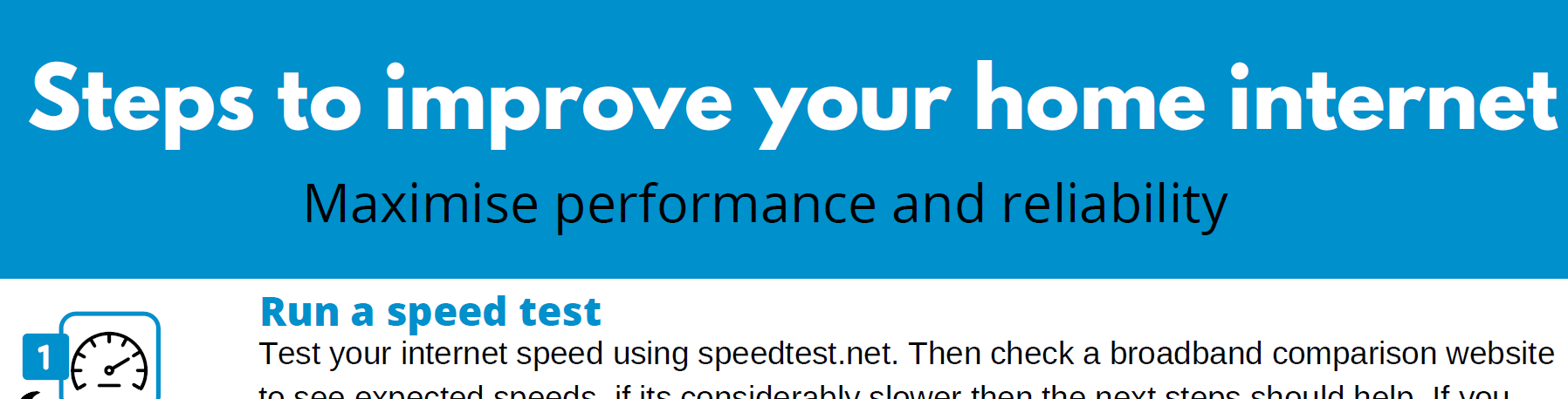 Speed Up Your Home Internet – Cheat Sheet