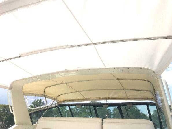 Boat marine canvas enclosure Sunbrella