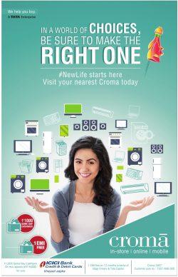 Croma Electronic Advertisement