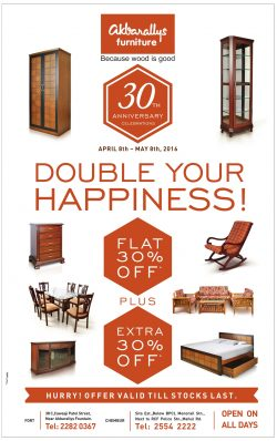 Akbarallys Furniture Advertisement in TOI Mumbai