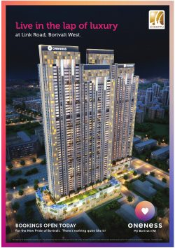 Oneness Luxury Flat Advertisement in TOI Mumbai