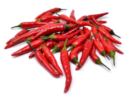 Red Serrano Chili Peppers