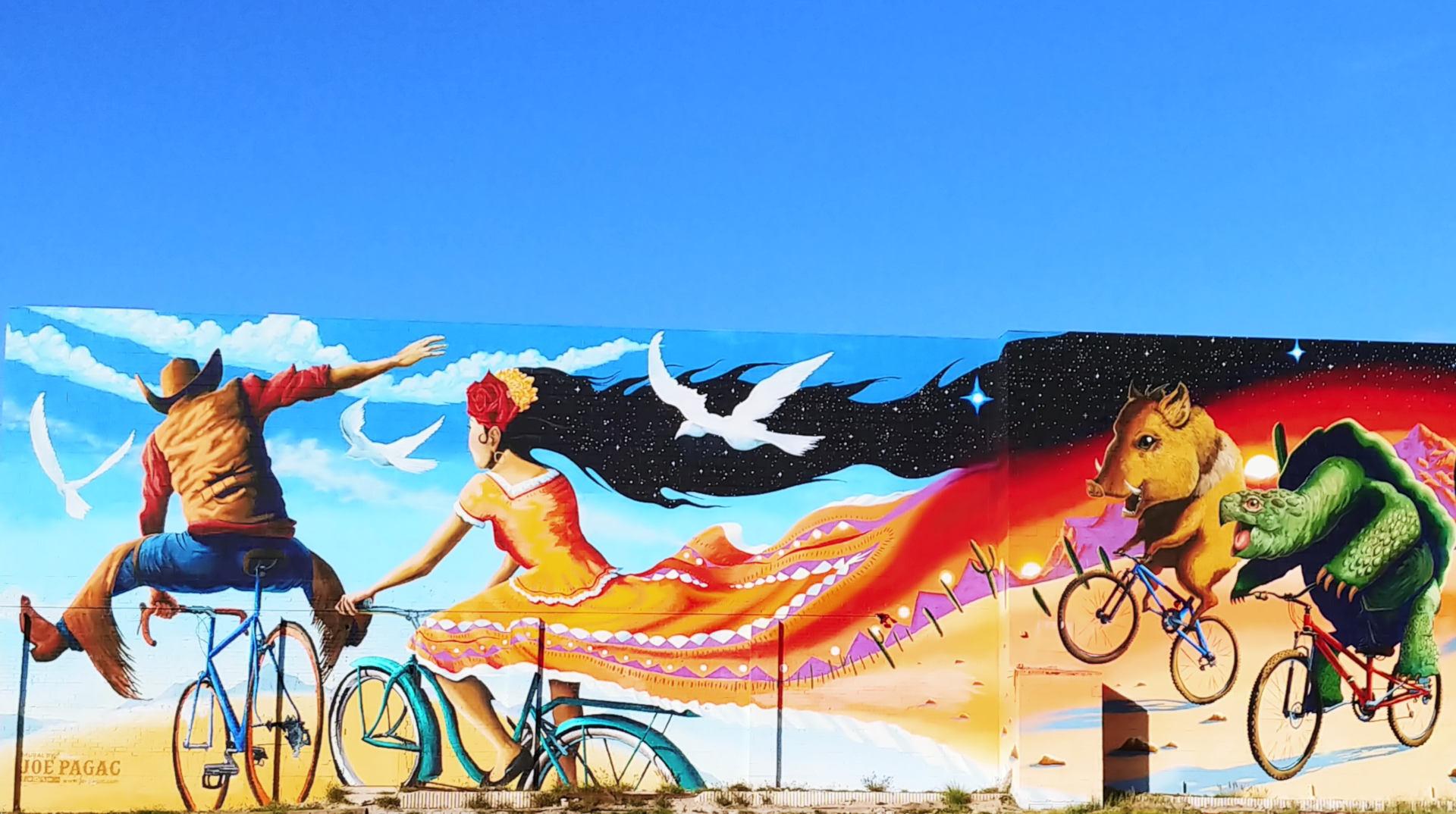 Tucson Mural at Epic Rides by Joe Pagac