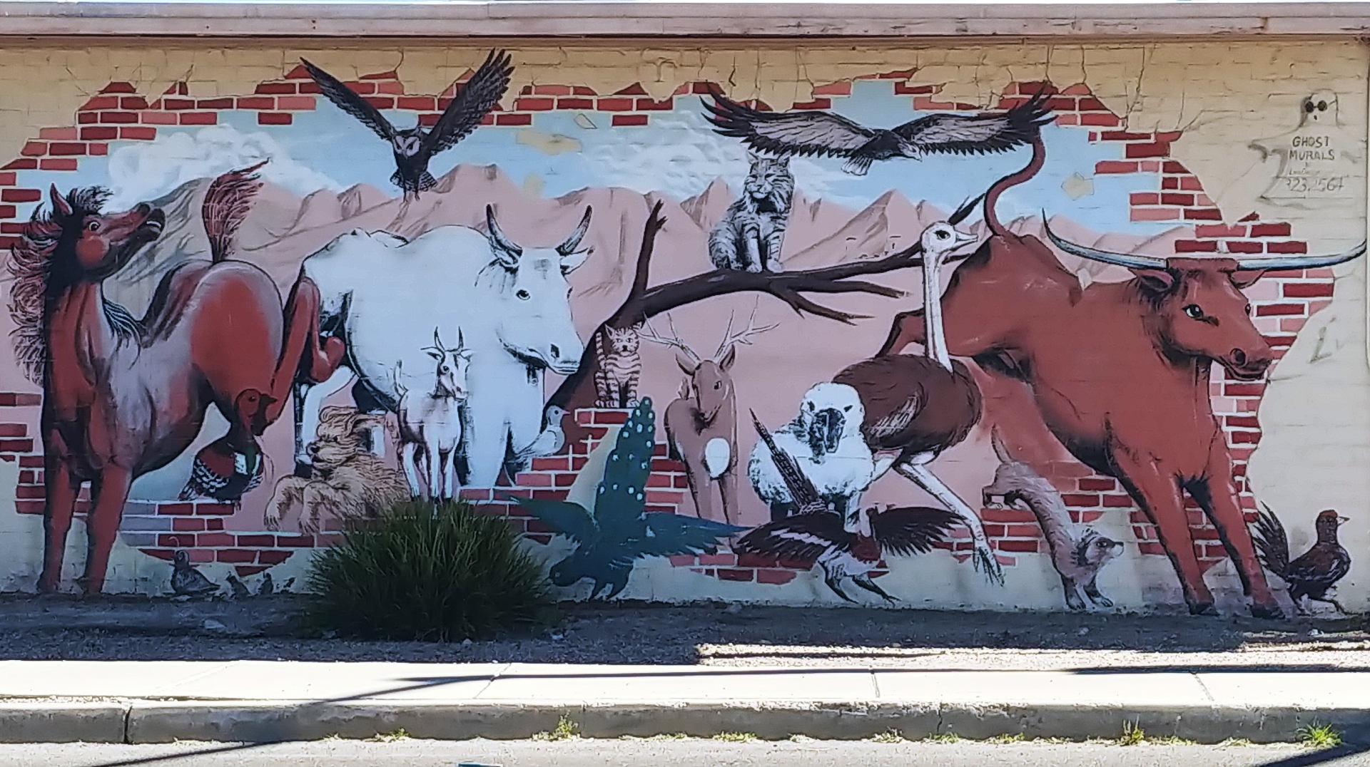 Tucson Mural OK Corral Feed Store
