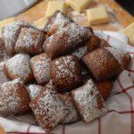 A plate of fastnacht doughnuts