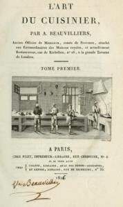 Cover of L'art due Cuisinier 1814 cookbook