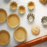Pie dough in tartlet pans
