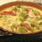 Photo of a pot of chile con queso