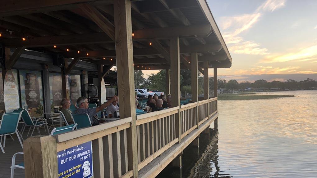dock, arbor with railing photo