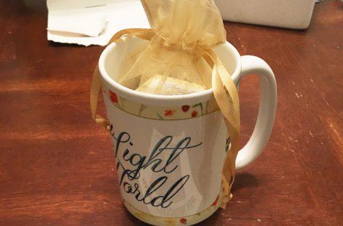 Mug and Hanukkah Gelt