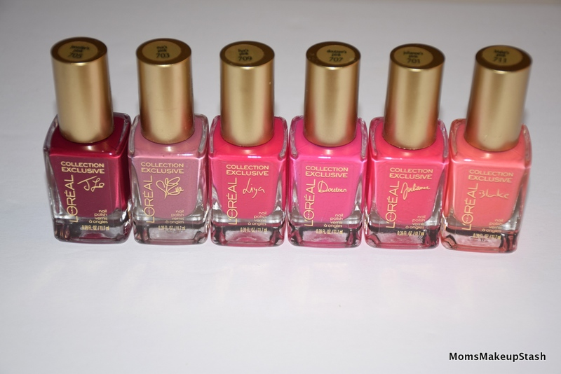 Loreal-Exclusive-Rose-Nail-Polishes