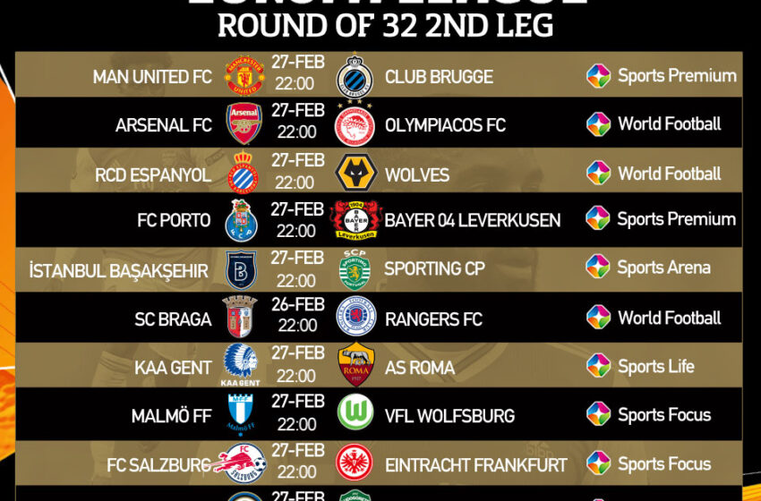 Watch UEFA Europa League on StarTimes English clubs well positioned