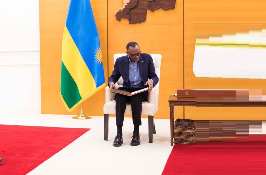 Perezida Kagame yakiriye ubutumwa bwa mugenzi we Sisi wa Misiri