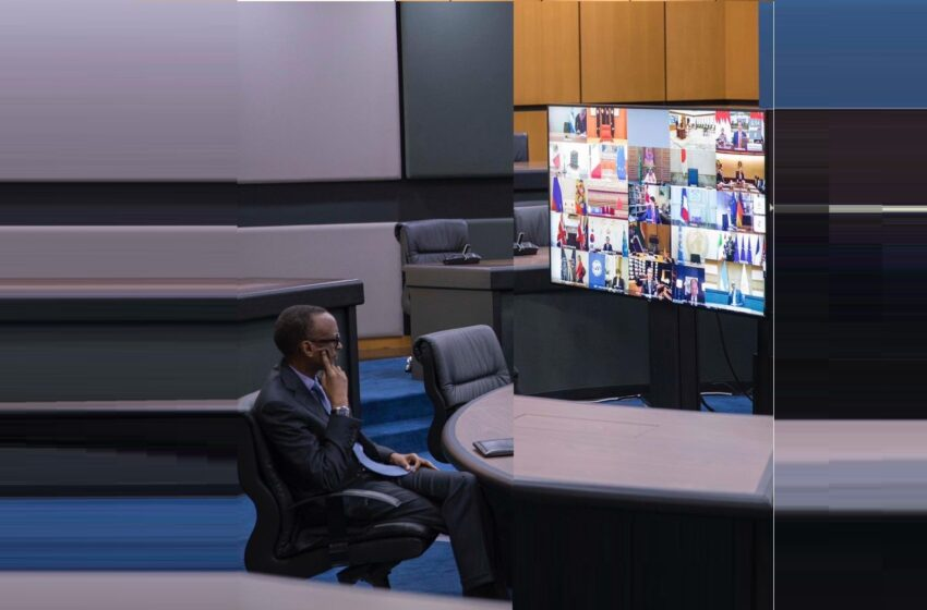 P.Kagame i Kigali kuri 'Video Conference' mu nama ya G20 yize kuri COVID-19