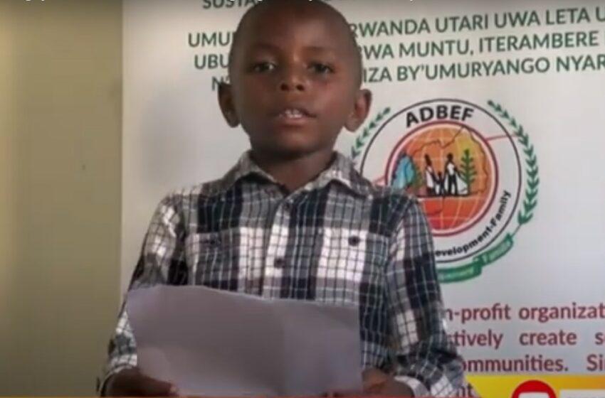 Nyarugenge: Umwana w'imyaka 7 yakoze mu nganzo ashima abakumira Covid-19