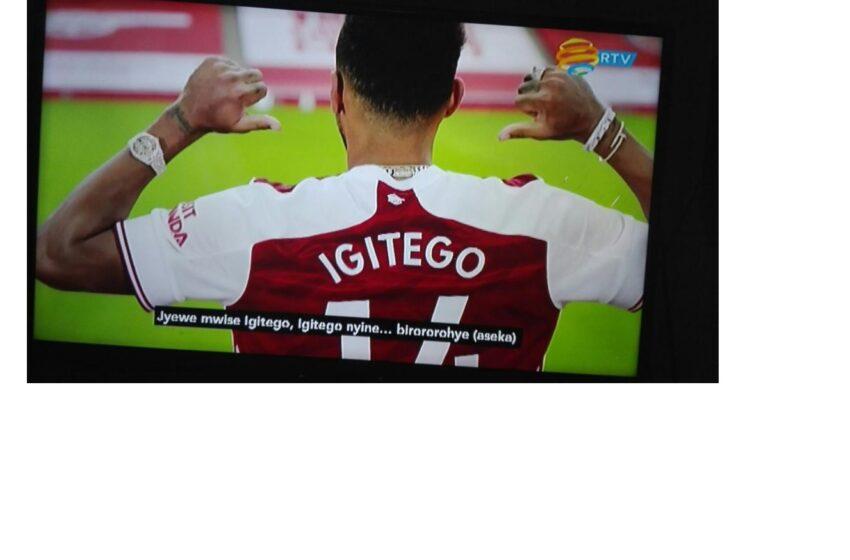 Kapiteni wa Arsenal Aubameyang yise umwana w'ingagi 'Igitego'