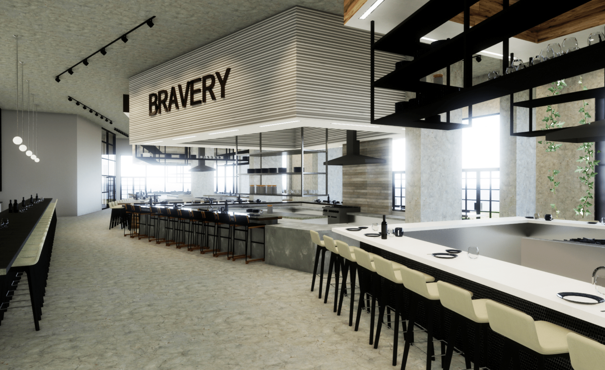 Bravery Chef Hall Houston Food Scene Porcelain Countertops