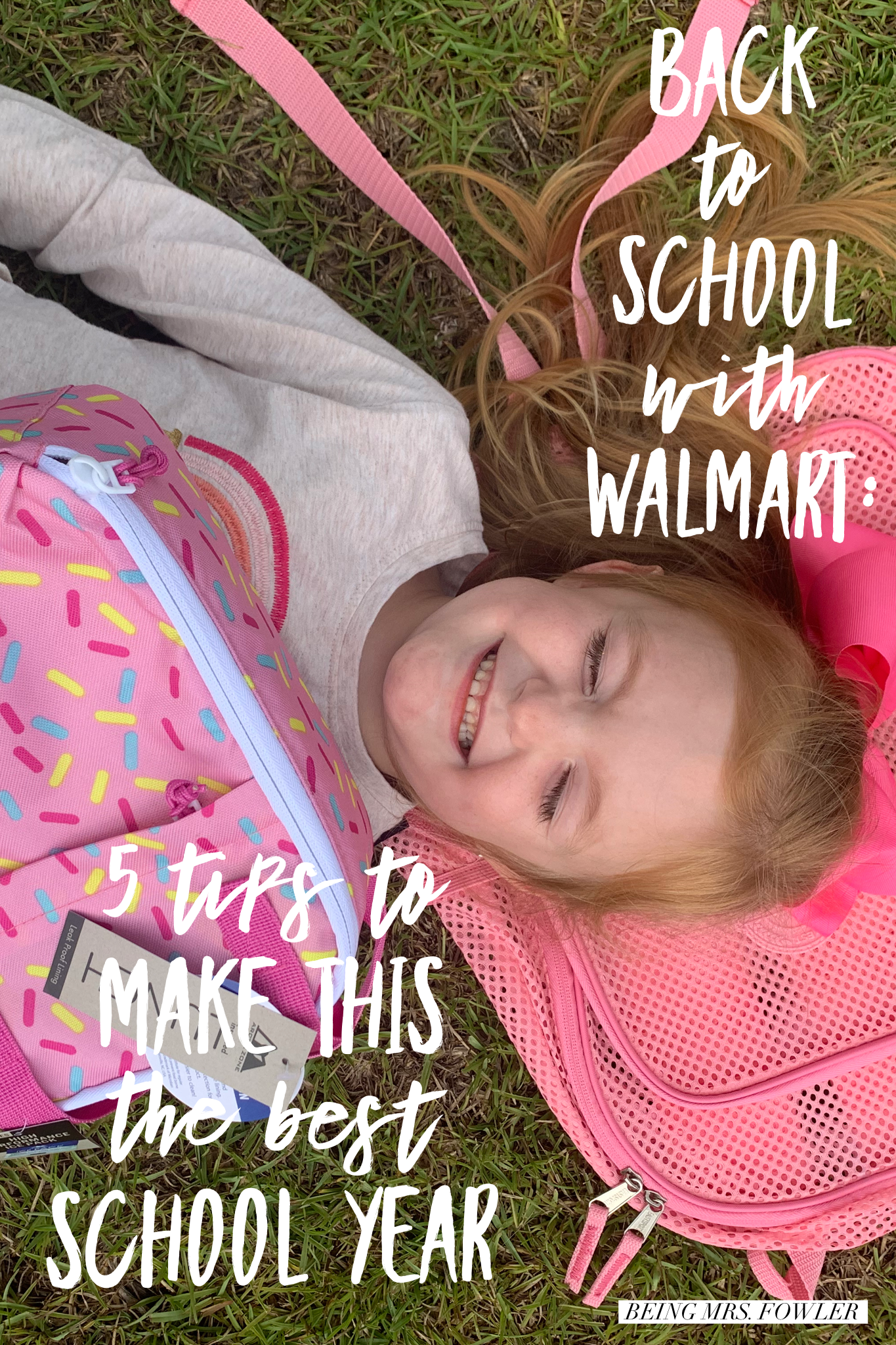 tips to make this the best school year, being mrs. fowler, walmart back to school fashion