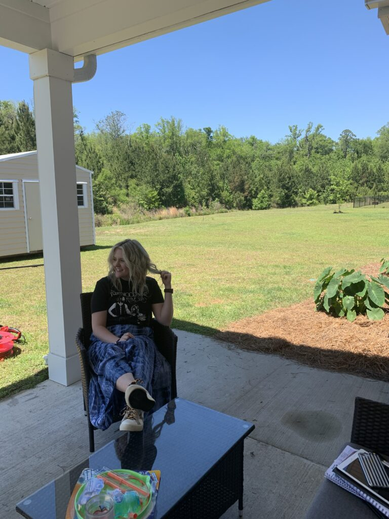 Savannah Blogger, Being Mrs. Fowler, 6 Projects to do while you are home, home update, back porch