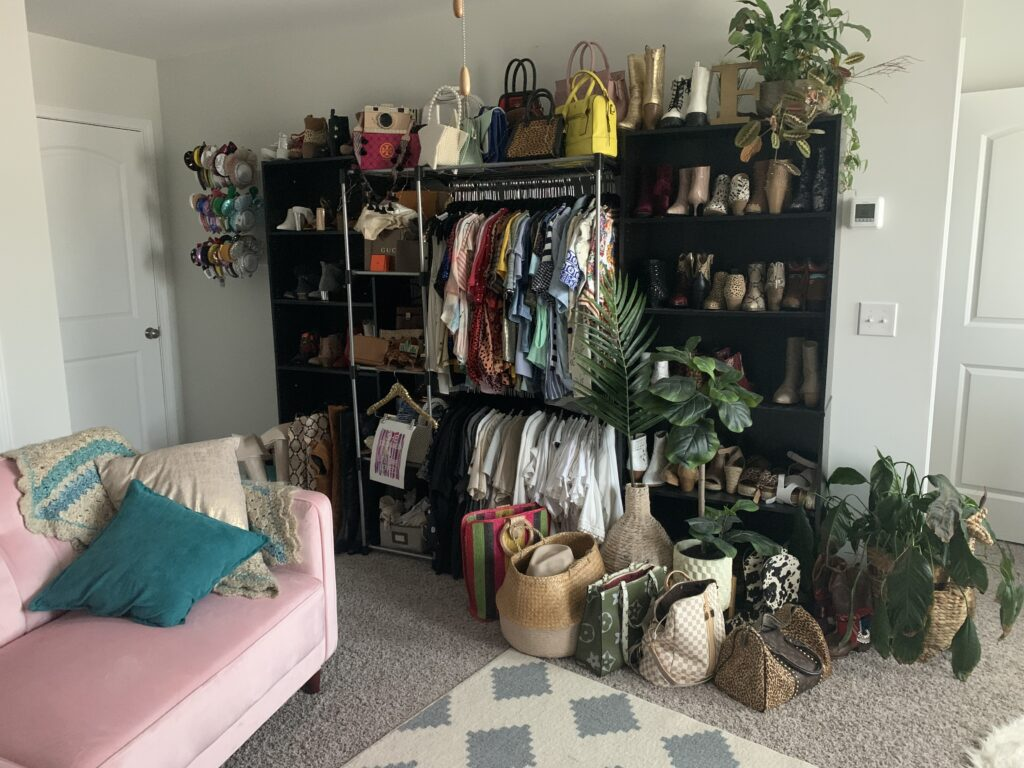 Being Mrs. Fowler, Making a House a Home, Boho Farmhouse Decor Ideas,  Closet Room