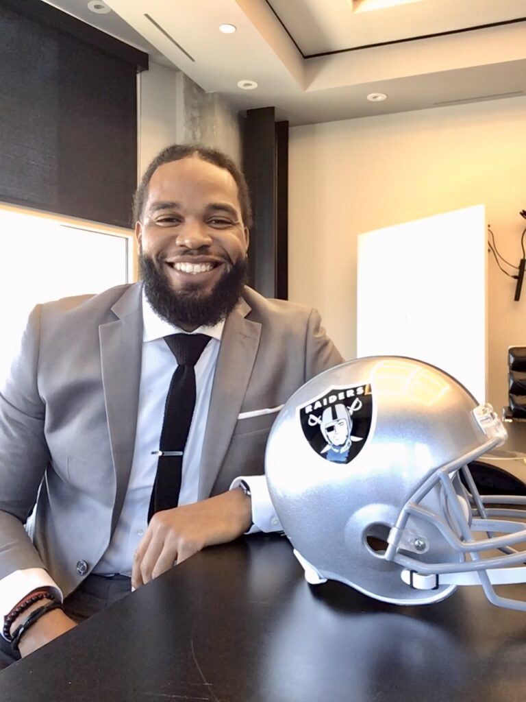 NFL Social Worker Devon Lewis Provides Strength and Peace for the Raiders, the Youth, and with His Son