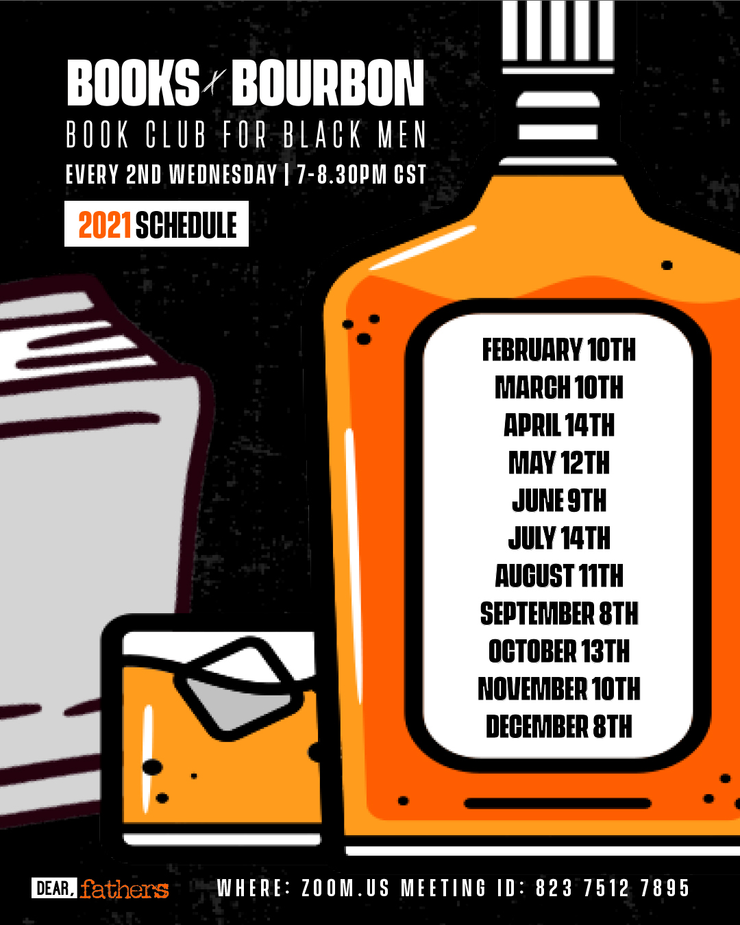 BOOKS AND BOURBON 2021 SCHEDULE