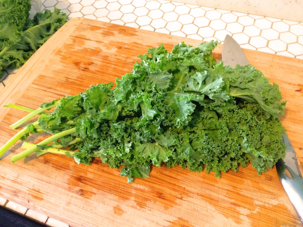 Find fresh, young kale for the Kale Slaw with Sesame Honey Dijon Dressing. Photo © Ben Young Landis.