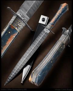 Integral Coffin Handled Dagger