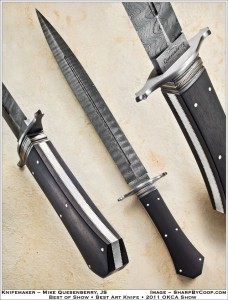 Coffin Handle Dagger with ebony