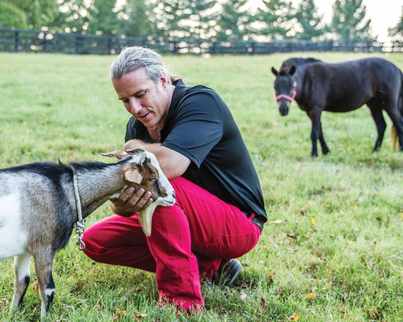Bravo-Greenberg with his animals
