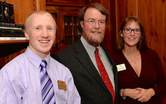 Left to right: Kevin Pawlak, Richard T. Gillespie and Jennifer Moore. Photo courtesy of the Mosby Heritage Area Association.