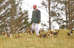 Russ Wagner, Master and Huntsman of the Nantucket Treweryn Beagles.