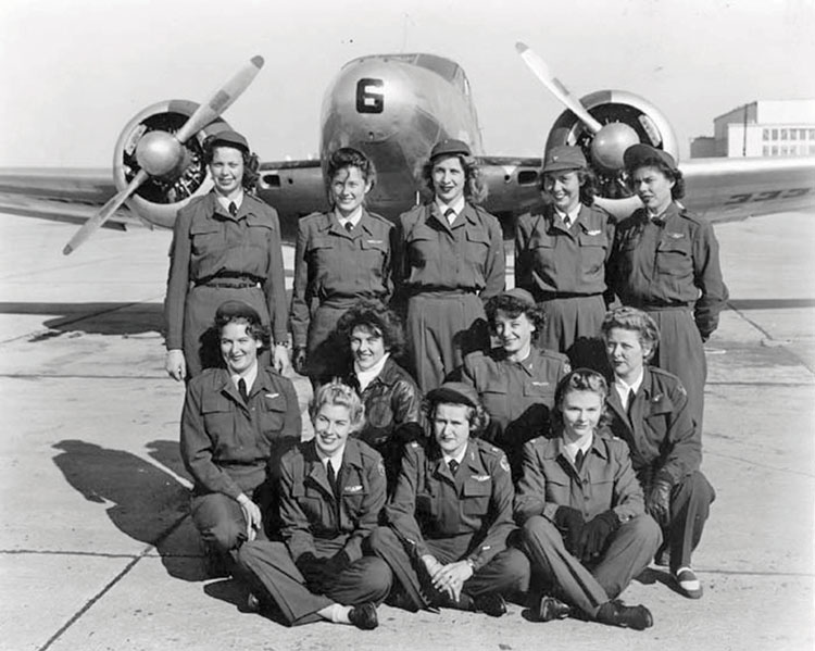 Dorothy Ferguson (back, second from right) a Greenwood Air Base.