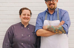 Pastry Chef Katie Kopsick (Left) and Lawrence Kocurek (Right) Credit Tiffany Meehan