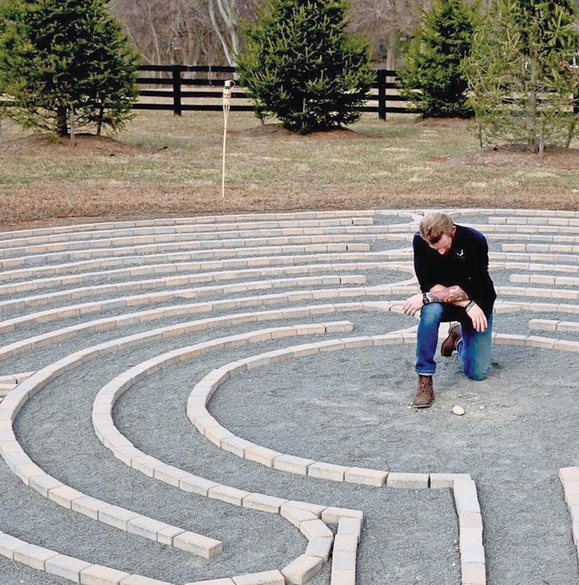 Paul Downs finds the labyrinth especially healing.