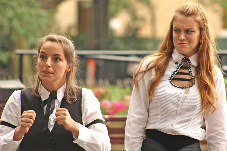 Malena Pennycook and Chelsea Frei are among the cast of performers in this year's Shakespeare in the 'Burg.