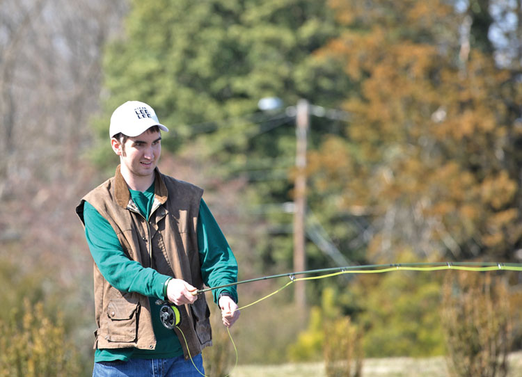 Forrest Allen attended the event as preparation for a fishing trip to Montana planned for this summer.