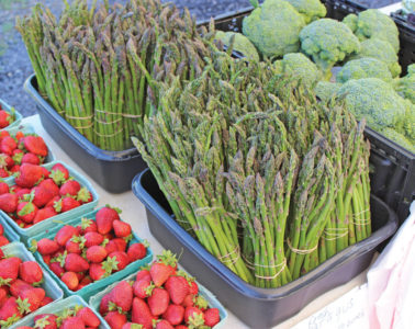 Fresh produce is only one of the things available at the market.