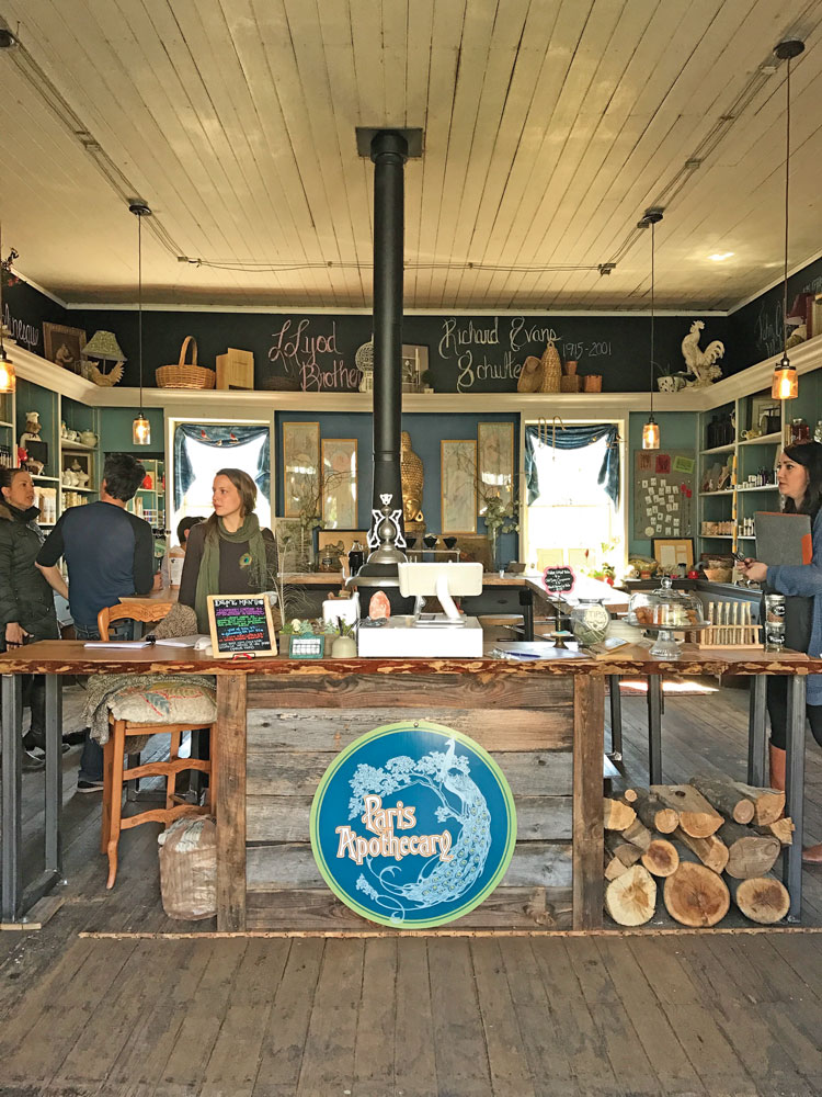 The shop was remodeled with an eye toward maintaining its historic integrity.