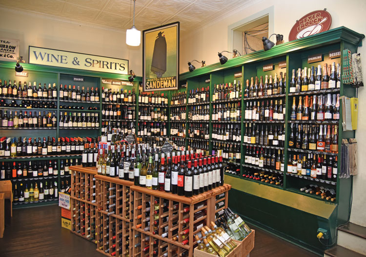 The expanded wine selection and new wine club offers convenience with a wide selection. Photo courtesy of Locke Store.