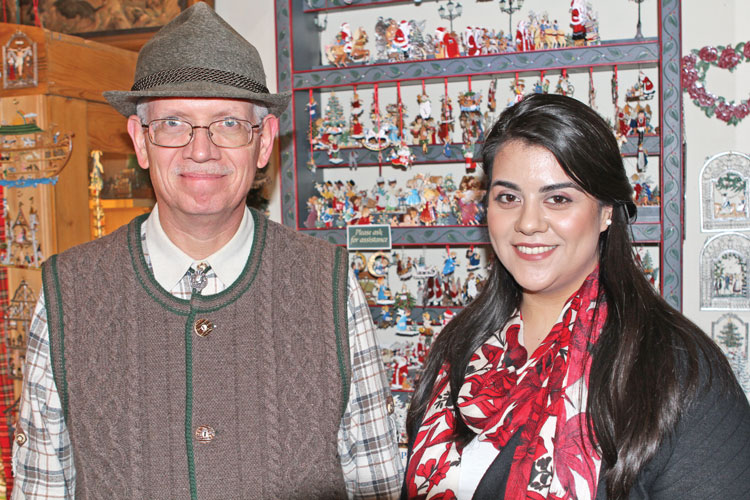 Bryan Buck, Engineer and Yesica Berumen, Assistant Manager of The Christmas Sleigh.