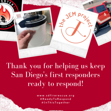 The JEM Project partners with San Diego Fire Rescue Foundation to support first responders