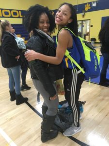 That's Kermari Reynolds and her mom after winning the 8th grade title...there going for a bigger one