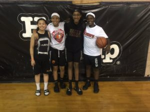 Ella Fajardo, Christian Dalce, Sania Caldwell & Kayla Beckford working on their craft