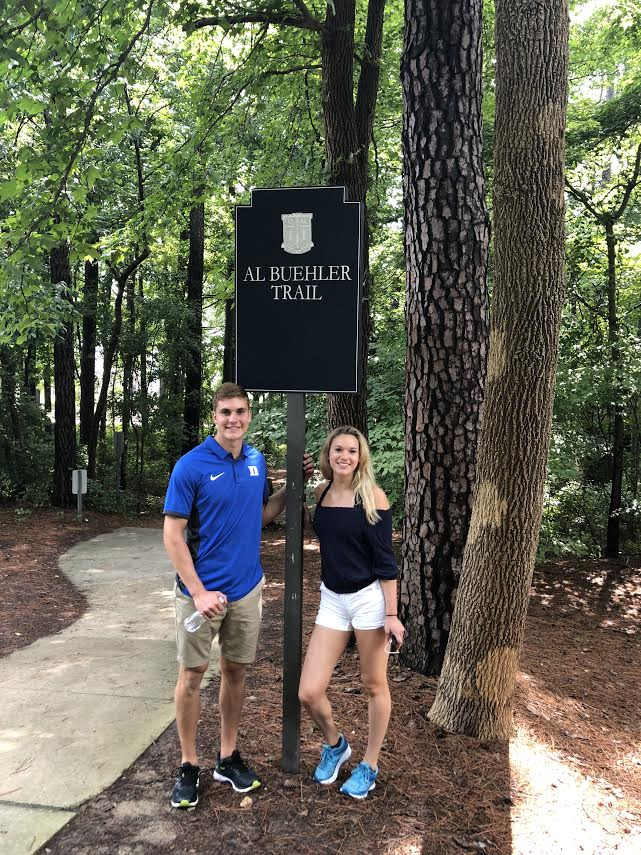 Camryn's brother Kyle has set the bar high as a student at Duke...just the way Camryn likes it!