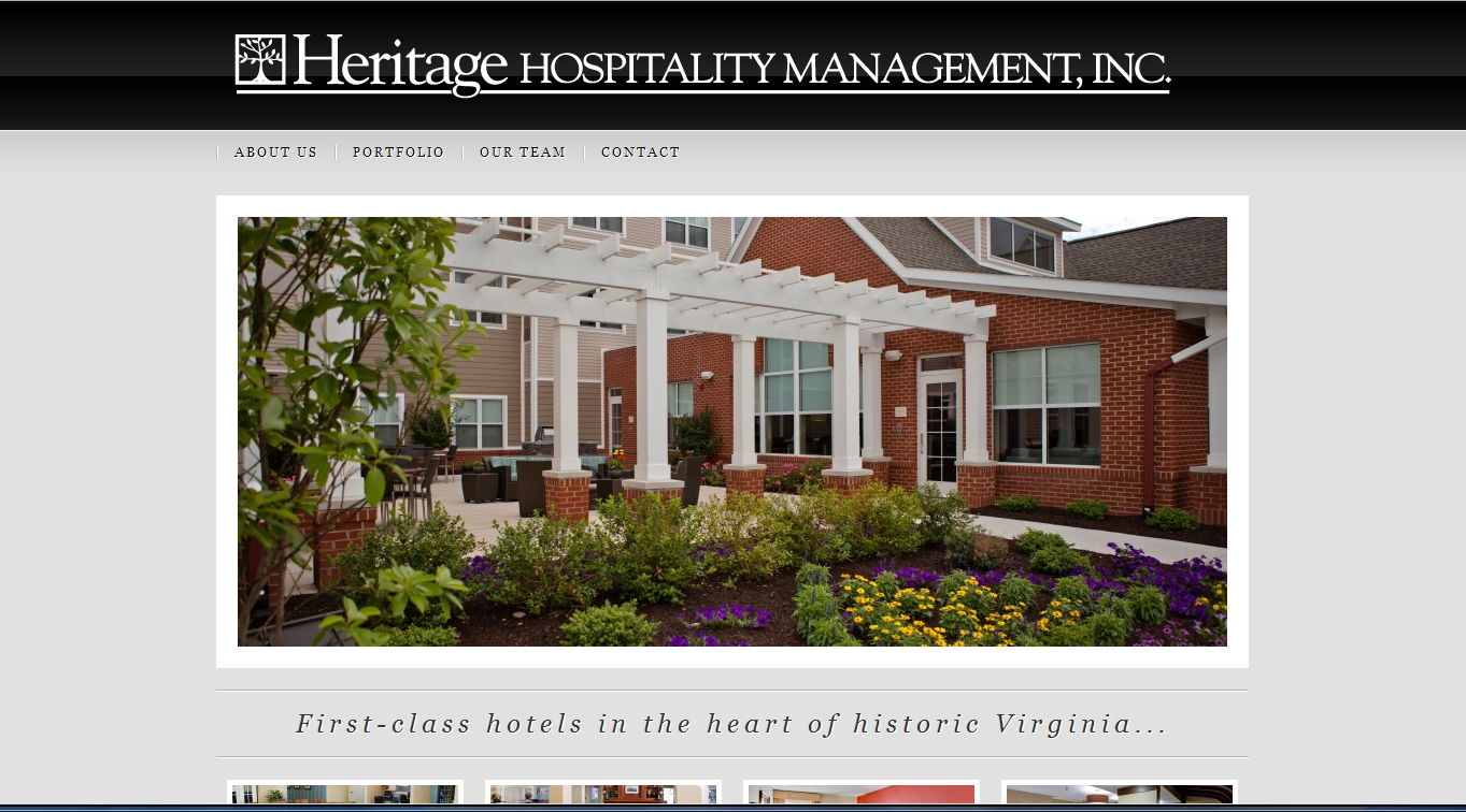 Heritage Hospitality Mgmt website screenshot