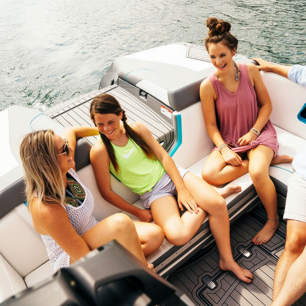 Friends Hanging Out on Boat