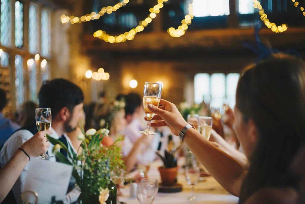 Toast at Wedding Reception