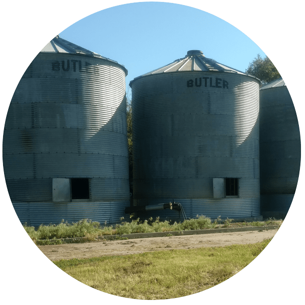 Unused Flat Bottom Grain Bins