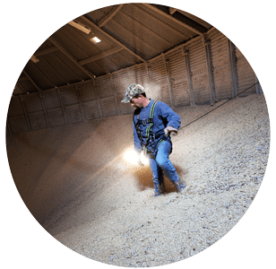 Entering Bins & Breathing in Grain Dust